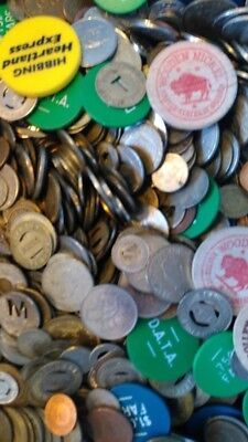 Lot of 8 ounces - half pound - 1/2 lb - of transit tokens