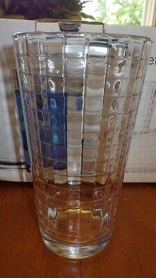 Clear Glass Tumblers Drinking glasses WIndowpane New in box 10 17 ounce glasses