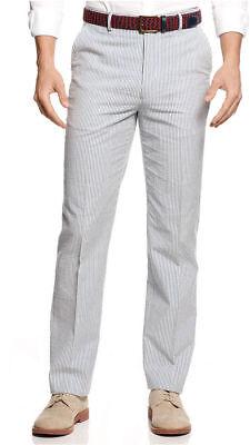 $270 TOMMY HILFIGER men BLUE PLEATED FIT SUIT DRESS PANTS TROUSERS 33 W 32 L ()