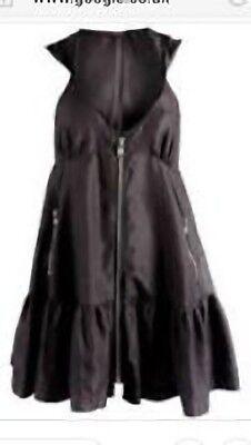 STUNNING  ALLSAINTS LAURETTE SILK ZIP DETAIL MINI DRESS SIZE UK 12 US10 RRP £198 Zip Detail Mini