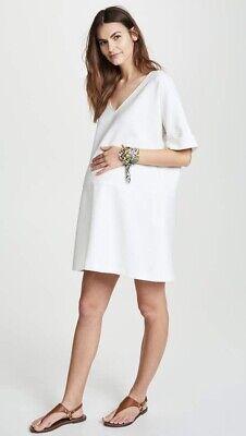 Hatch Maternity Women's THE BETHANY DRESS White Size 1 (S/4-6) NEW