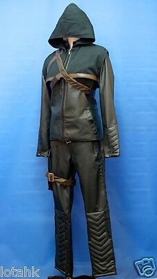 CW Arrow Oliver Queen Green Arrow Cosplay Costume Custom Made <lotahk>