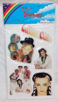 1980S Culture Club   Boy George   Puffy Stickers Mint Sealed   Rock   Roll Moc