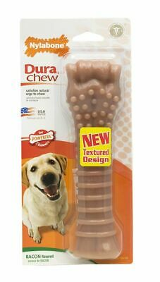 Nylabone Dura Chew Durable Dog Bone - Bacon Flavor Souper - Dogs Over 50 lbs Nylabone Durable Bacon Flavor Bone