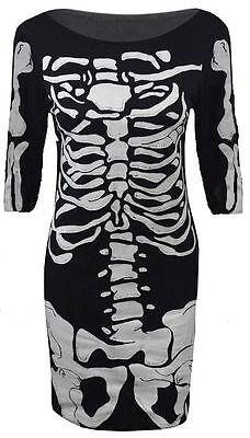 rint Halloween Bodycon Midi Dress Ladies Size UK 8-14 (Halloween Midi)