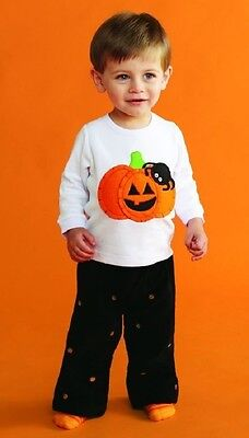 Mud Pie Halloween Pumpkin Boys Two Piece Pant Set](Halloween Mud Pies)