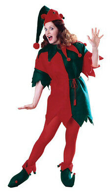 Elf Tunic Adult Costume Christmas Red Green Thanksgiving Theme Party Halloween](Christmas Party Costume Themes)
