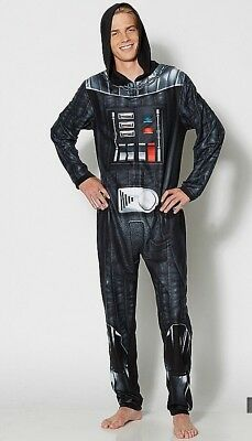 r Adult Pajama Body Suit Liscenced Medium Fleece Costume (Darth Vader Body Suit)
