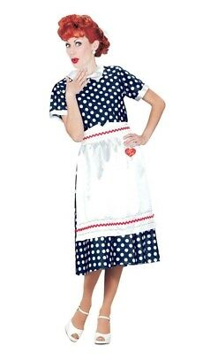 Lucille Ball Costume I Love Lucy Polka Dot Adult Womens Dress Halloween