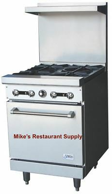 New 24 4 Burner Range With Gas Oven Stratus Sr-4 7224 Commercial Cook Stove