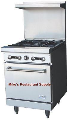 New 24 Range 4 Open Burner Gas Oven Stratus Sr-4 7224 Commercial Stove Nsf Usa