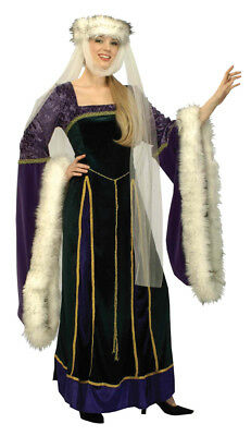 Medieval Lady Adult Womens Costume Renaissance Royalty Theme Party Halloween