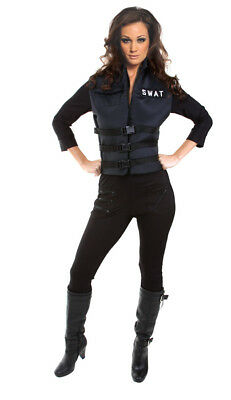 Lady Swat Women's Adult Costume Officer Police Uniform SWAT Team Halloween - Ladies Swat Costume
