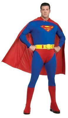 SUPERMAN ADULT PLUS SIZE COSTUME Classic Comic Book Super Hero Theme Party - Comic Book Themed Halloween Party