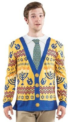 Ugly Christmas Hanukkah Sweater Adult Men's Costume Shirt Halloween