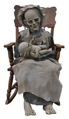 HALLOWEEN LIFE SIZE ANIMATED  LULLABY BABY GHOUL  HORROR PROP DECORATION