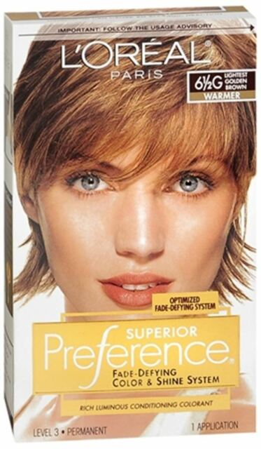 L39Oreal Paris Superior Preference Hair Color 65G Lightest Golden Brown