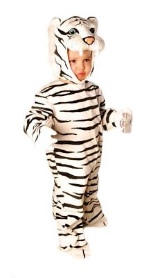 White Tiger Infant Halloween Costume (Tiger Striped White Plush Infant Toddler Child Costume Safari Halloween)