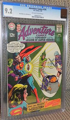 Adventure #376 CGC 9.2 Near Mint- Superboy Legion of Super-Heroes/LSH