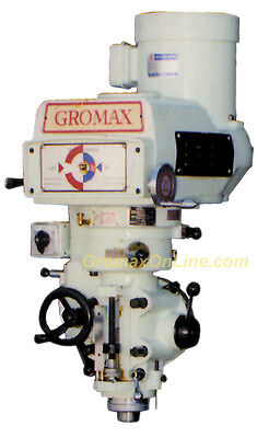 Gromax Milling Machine Head Variable Speed 3hp R8 Spindle Mh-v100