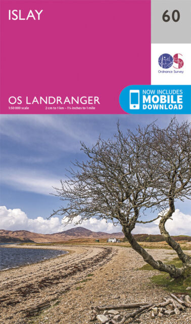 ISLAY LANDRANGER MAP 60 - Ordnance Survey - OS - NEW 2016 + DOWNLOAD