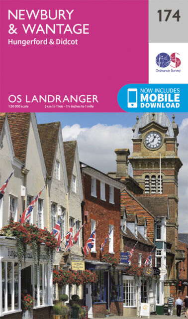 NEWBURY & WANTAGE LANDRANGER MAP 174 - Ordnance Survey - OS NEW 2016 + DOWNLOAD
