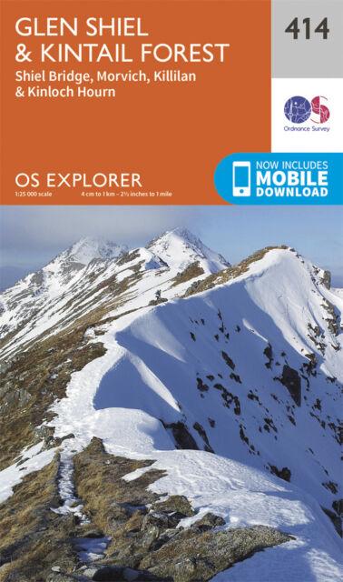 Glen Shiel and Kintail Forest Explorer Map 414 - OS - Ordnance Survey 2015