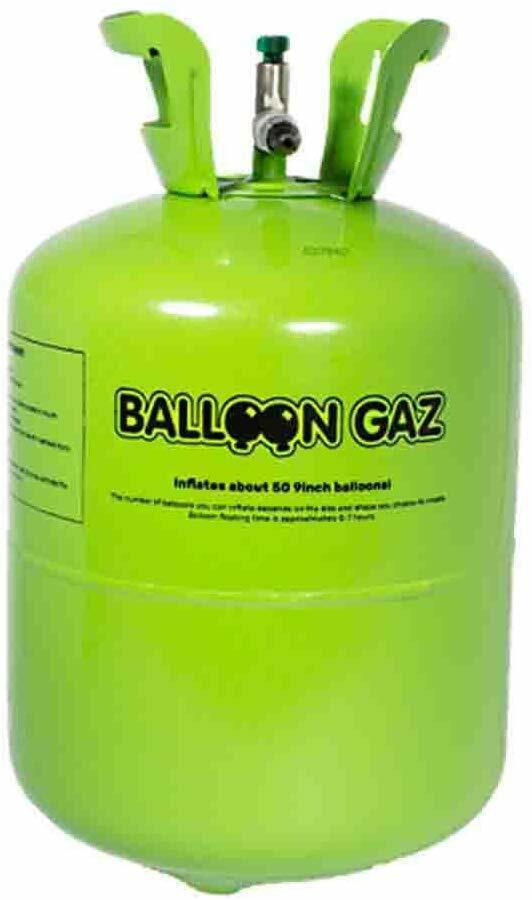 Helium Ballongas Grün Einweg für ca 30 Luftballons d:20cm Folienballons Top