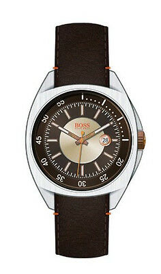 Hugo Boss -  Men's Brown Leather Strap Watch - 1512294