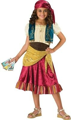 Gypsy Girl Child Costume Girls Kids Peasant Magician Skirt Halloween Theme - Gypsy Girl Kostüm Halloween