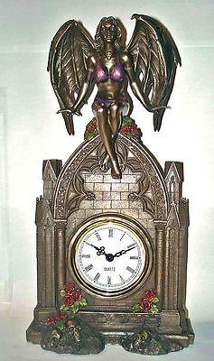 Gothic Tisch Uhr Dark Angel Dusan von Nemesis Now