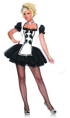 Geliebte Maid Erwachsene Damen Kostüme Tütü Schürze Kostüm Leg Avenue