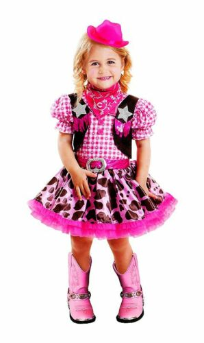 NEW RODEO PRINCESS HALLOWEEN DRESS UP COWGIRL PINK COSTUME! GIRLS TODDLER 3T-4T