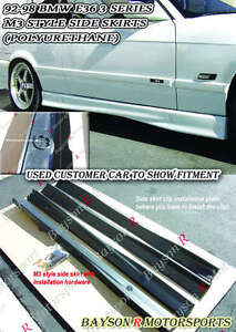 M-Tech Style Side Skirts (PP) Fits 91-99 BMW E36 2/4dr 3-Series