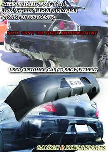 JDM Style Rear Bumper Cover (Urethane) Fits 03-07 Mitsubishi EVO 8 9