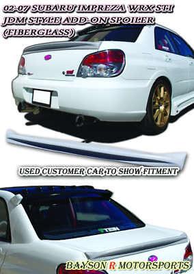 M-Style Rear Trunk Spoiler Wing (FRP) Fits 02-07 Subaru Impreza 4dr Sedan Subaru Impreza Fiberglass Wings
