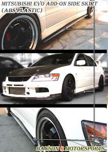Optional Add-On Side Skirts Extensions Fits 01-07 EVO 7 8 9