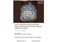 CATH KIDSTON KIDS OC KNIGHT RUCKSACK BAG SKY BLUE BRAND NEW