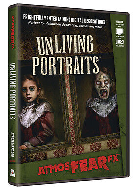 Halloween ATMOSFEARFX UNLIVING PORTRAITS DVD DIGITAL WINDOW PROJECTION Haunted (Halloween Projection Movies)