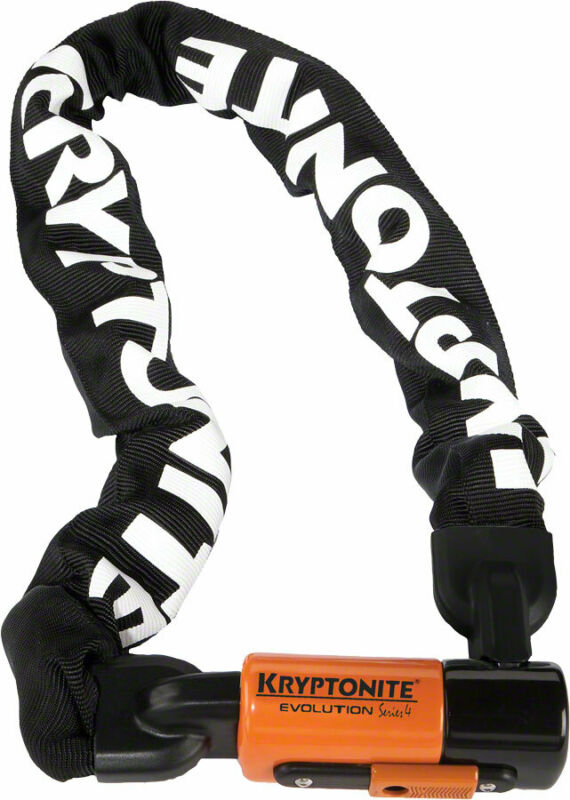 Kryptonite 1090 Evolution Series 4 Chain Lock Keyed 10mm x 90cm End Link Design
