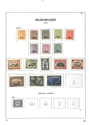 [OP7631] Belgium lot of stamps on 9 pages