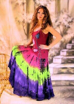 Gothic Pagan Wicca Ethno Bauchtanz Tribaldance Rock Mahati cerise 36 38 40 42 - Gothic Dance Kostüm