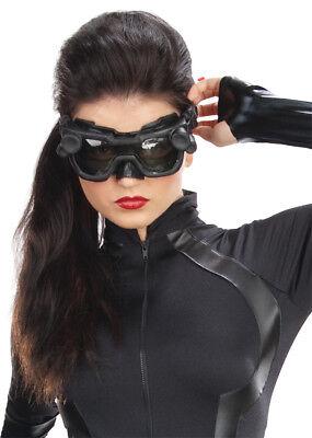 Catwoman Adult Goggles Superhero Black Eyewear Futuristic Theme Halloween Party (Goggles Catwoman)