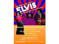 ELVIS TRIBUTE NIGHT with Award Winning Patrick Byrne as ELVIS at Wensum Valley Hote;l & Golf Club