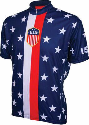 World Jerseys 1956 Retro USA Jersey - Red/White/Blue, Short Sleeve, Men's, Large