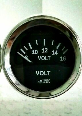 Smiths Ancillary Battery Voltmeter Volt Gauge Chrome Rim 52mm 2