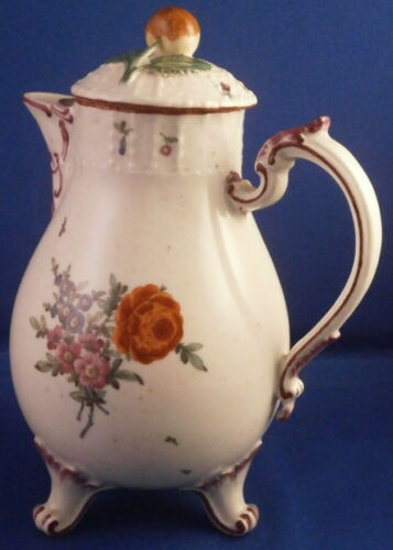 Antique 18thC Ludwigsburg Porcelain Small Floral Pot Porzellan Kanne German