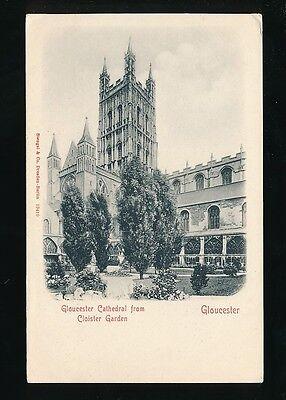 Gloucestershire GLOUCESTER Cathedral Cloister Carden c1902 u/b PPC Stengel 19410