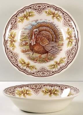 Thanksgiving Victorian English Pottery Homeland Turkey Large Serving Bowl Dish - Thanksgiving Serving Dishes