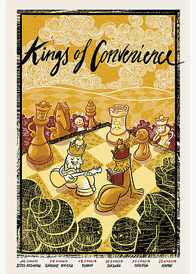 KINGS OF CONVENIENCE CONCERT POSTER LIMITED EDITION SCREEN PRINT
